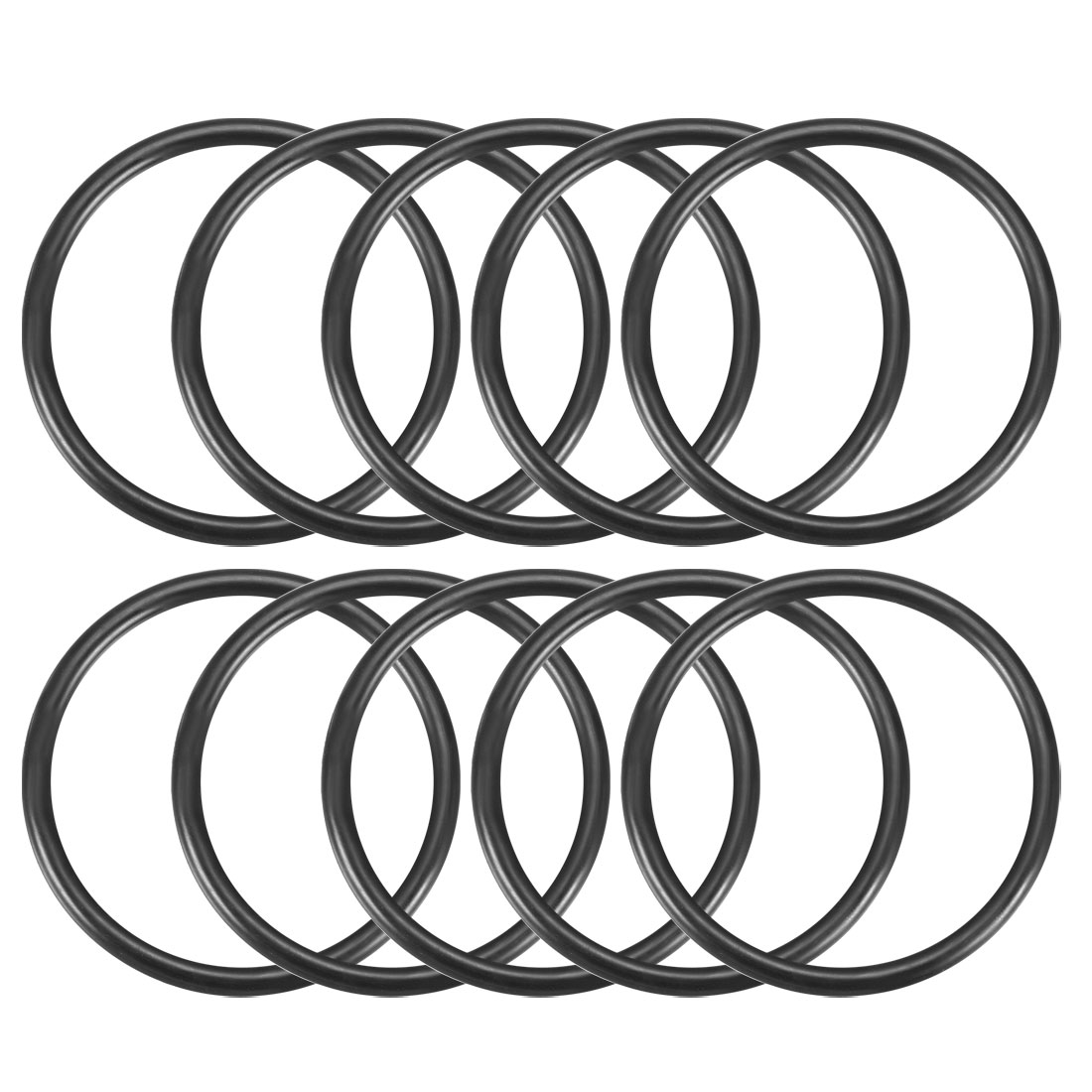 10Pcs Black 69mm OD 59mm Inner Dia Nitrile Rubber O-ring Oil Seal Gaskets