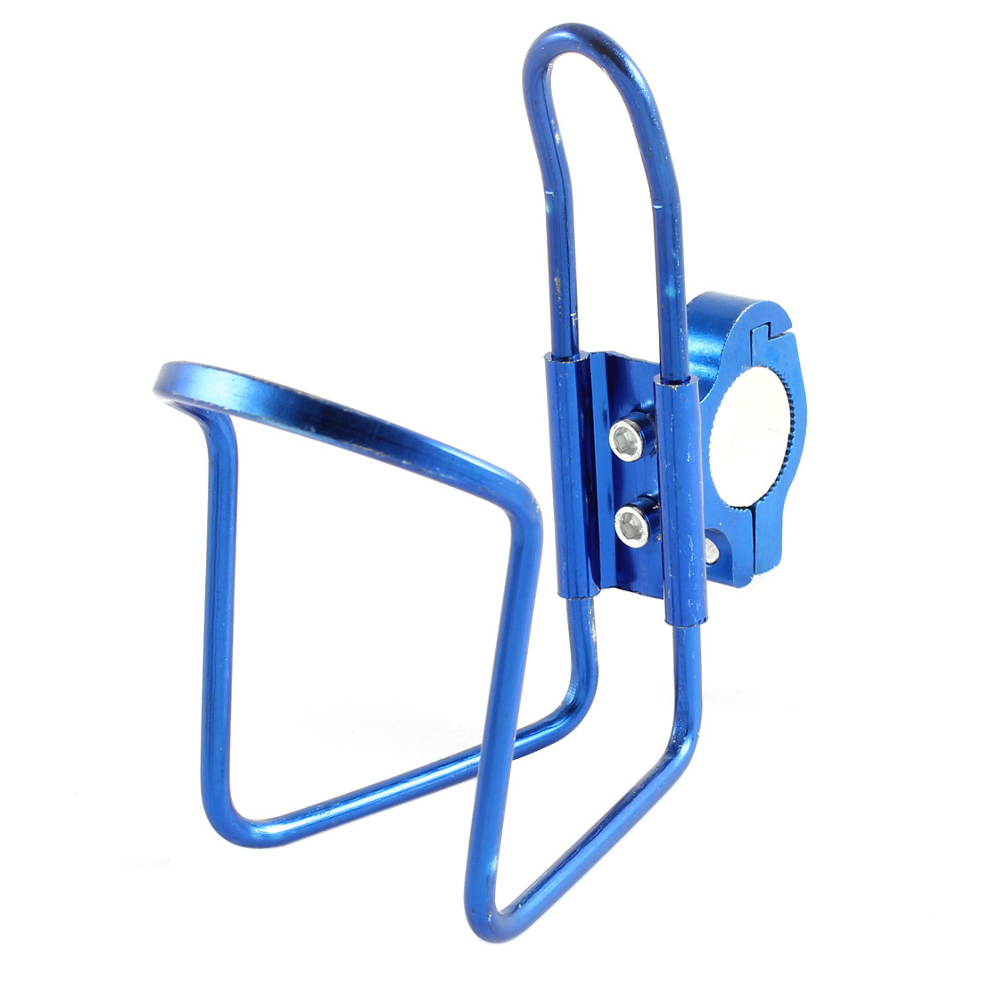 Bike Bicycle Handlebar Aluminum Alloy Water Bottle Holder Cage Royal Blue