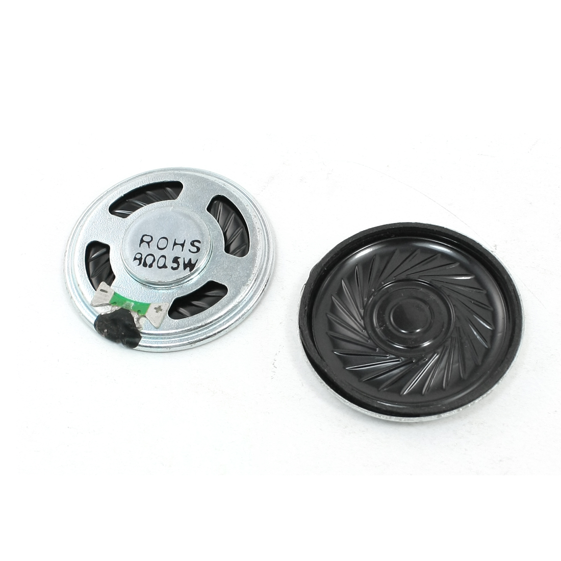 40mm Diameter Round Internal Magnetic Speaker Trumpet Horn 0.5W 8 Ohm 2Pcs