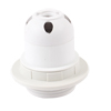 Off White Plastic E27 Halogen Lamp Light Holder Socket AC 250V 4A
