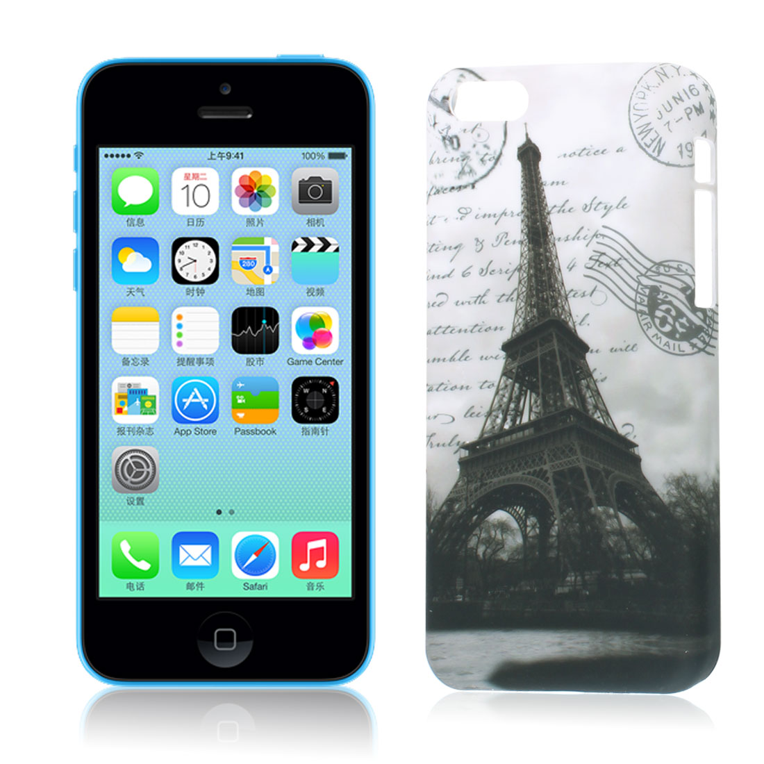 Eiffel Tower Print Plastic Back Case Cover Protector for iPhone 5C