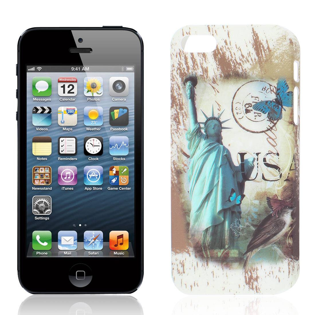 The Statue of Liberty Pattern Hard Back Case Cover Guard Shell for iPhone 5GS 5G