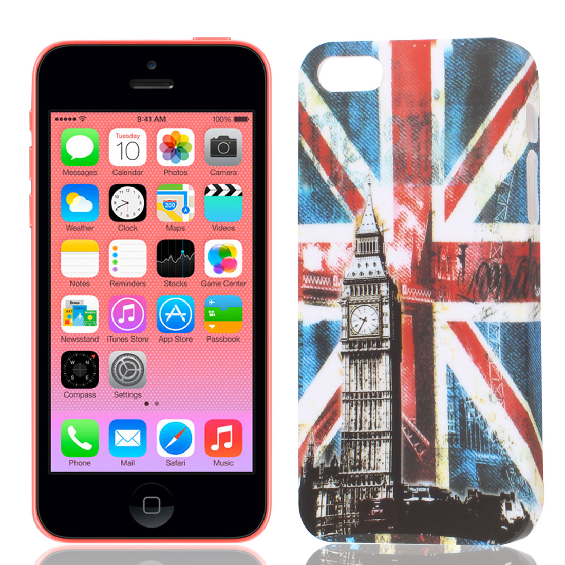 UK Flag Print Hard Plastic Back Case Cover Protector for iPhone 5G 5GS