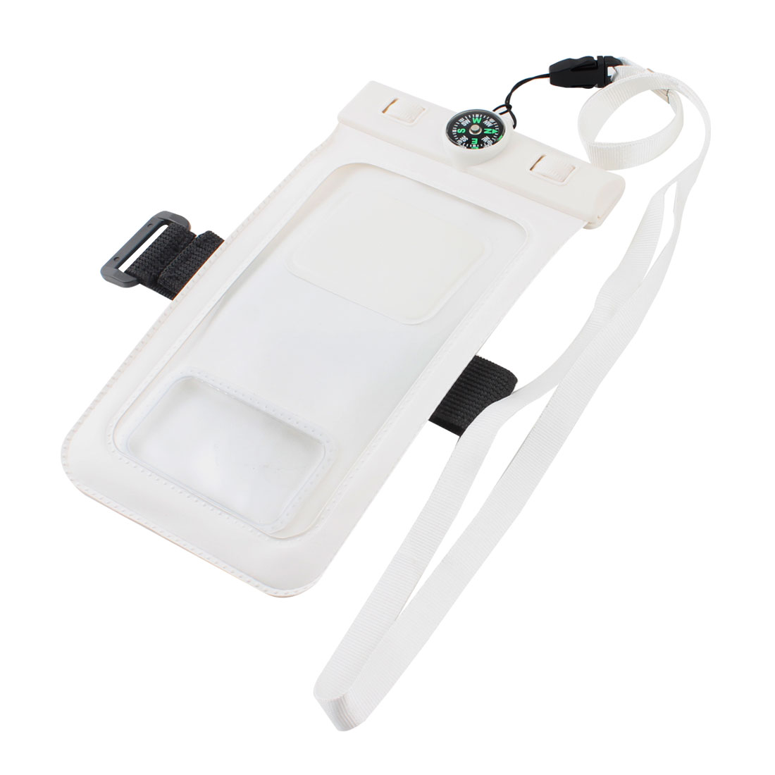 Fishing White Waterproof Protector Case Cover w Neck Strap