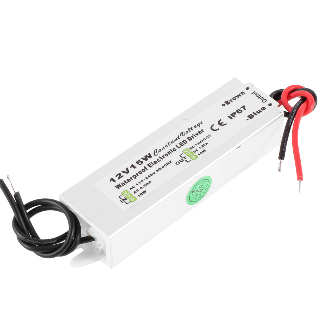 AC 110-240V IP67 Waterproof Constant Current Driver Power Supply for 12V 15W LED