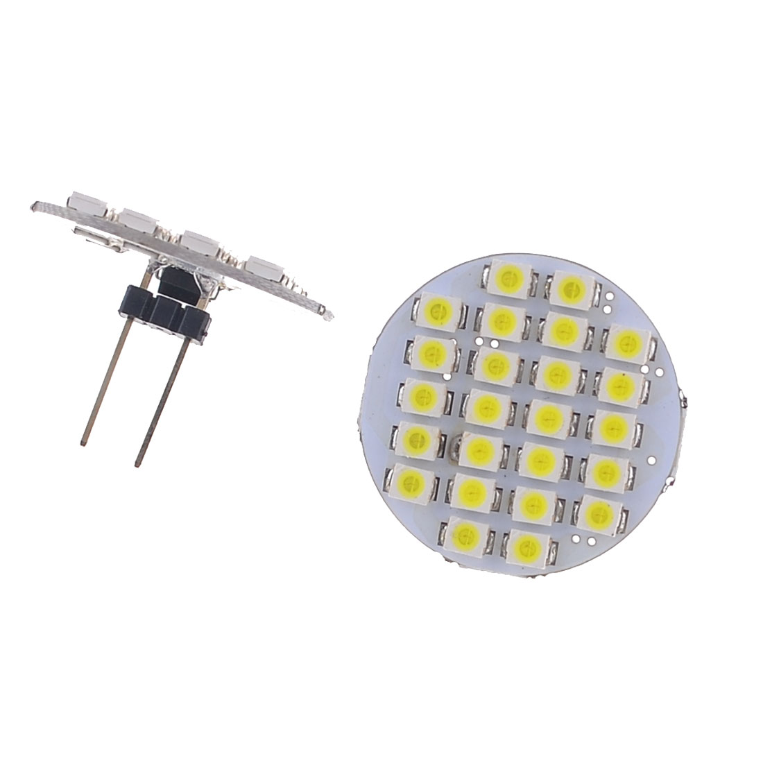 Pair G4 Back Pin 1210 SMD 24 LED Car Side Dome Light White 12V