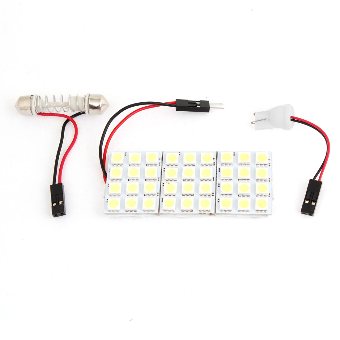 Car 36 White 5050 SMD LEDs Map Reading Dome Ceiling Light w T10 Festoon Adapter