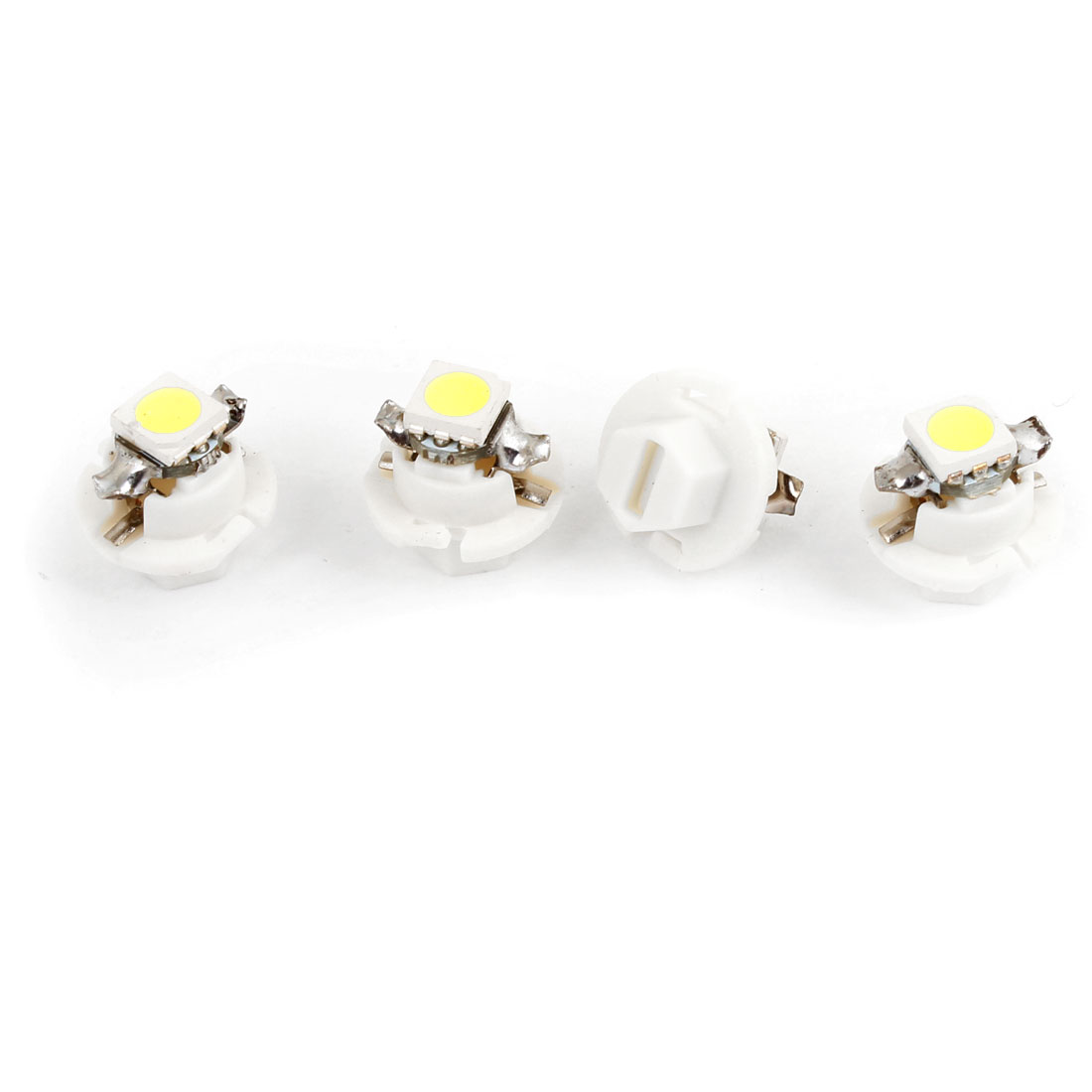 4 Pcs White B8.4 5050 SMD 1 LED Dash Board Gauge Light Bulb for Car