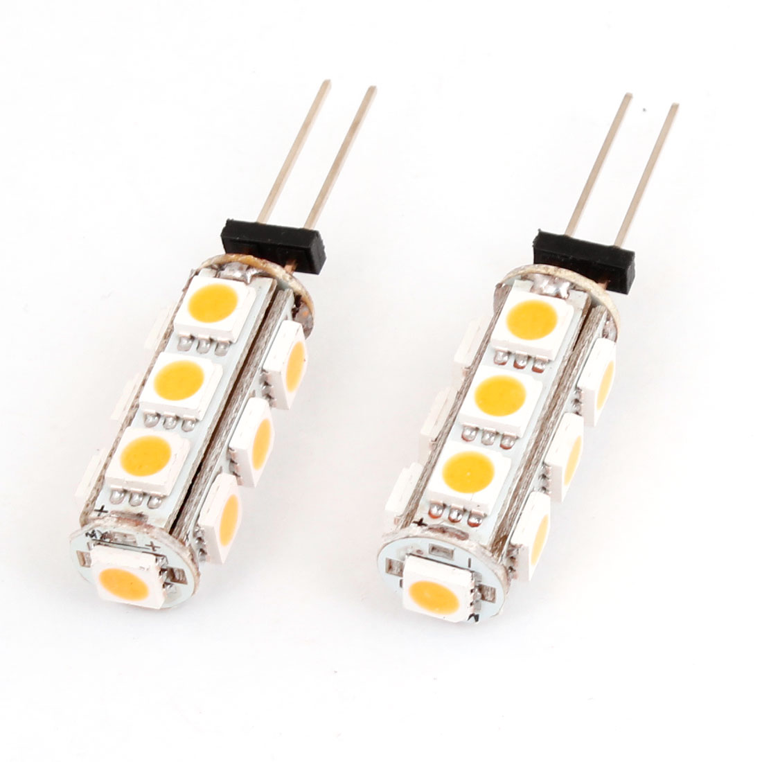 Universal Car G4 Lamp Holder 5050 SMD 13 LED Warm White Light 2pcs