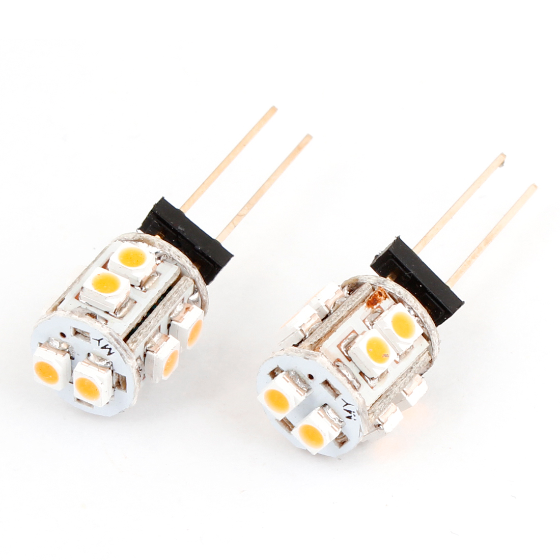 Auto Car G4 Pin 1210 10 SMDs Warm White Light Bulbs