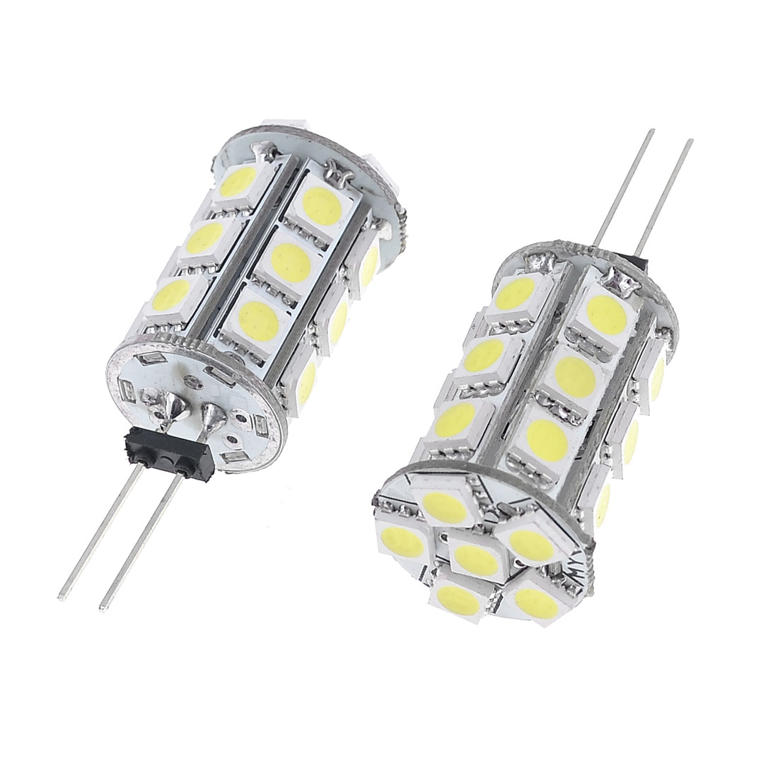 2 Pcs G4 Base White 5050 SMD 24 LED Bulb Light Lamp for Automobile Car