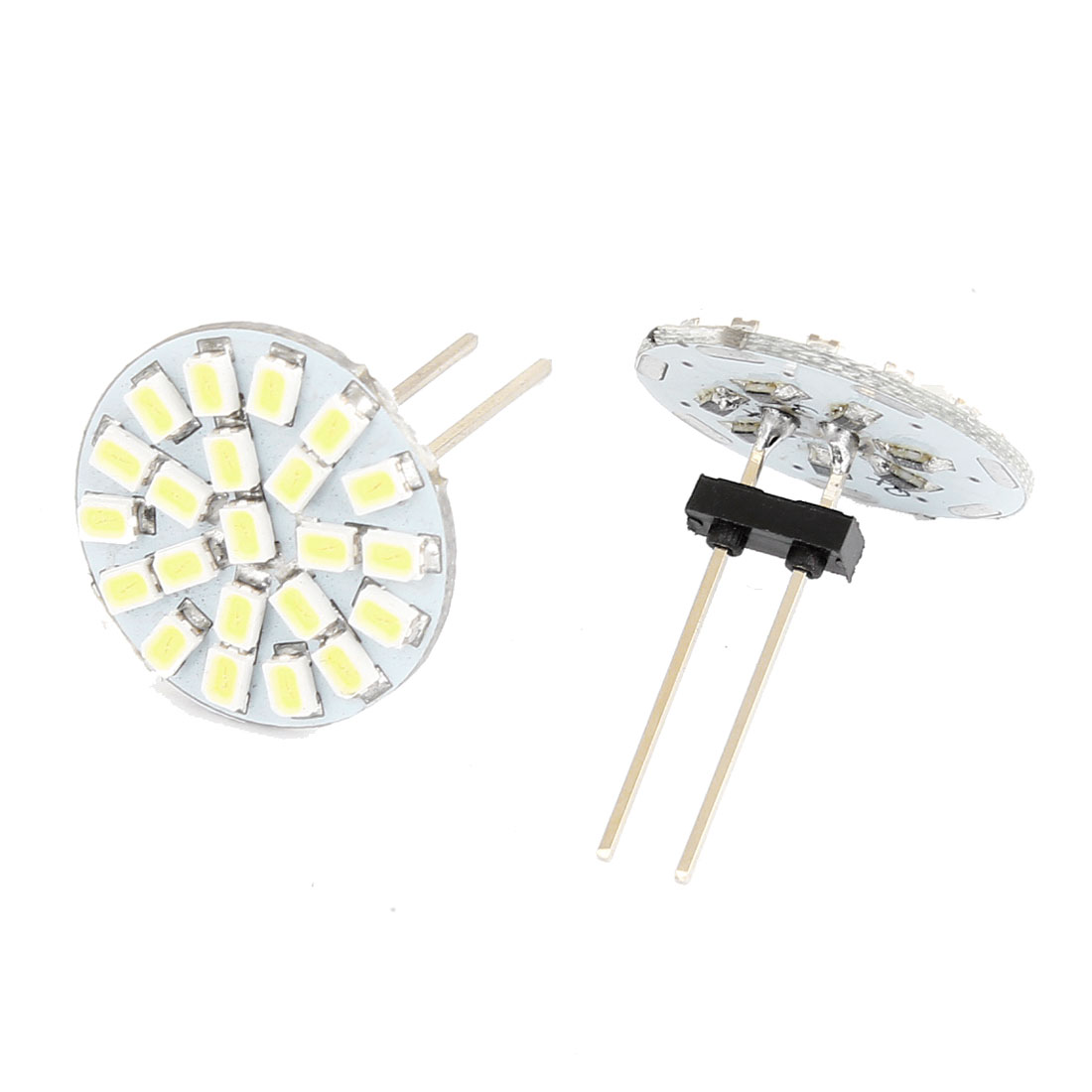 Car White G4 1206 SMD 22 LED Spotlight Lamp Bulb DC 12V 2 Pcs internal