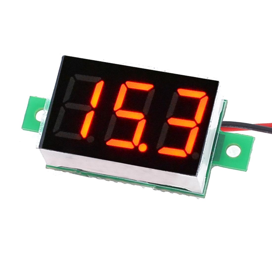 V20D 2-Line 3-Digits Red LED Direct Current Voltmeter Meter 2.5-30V