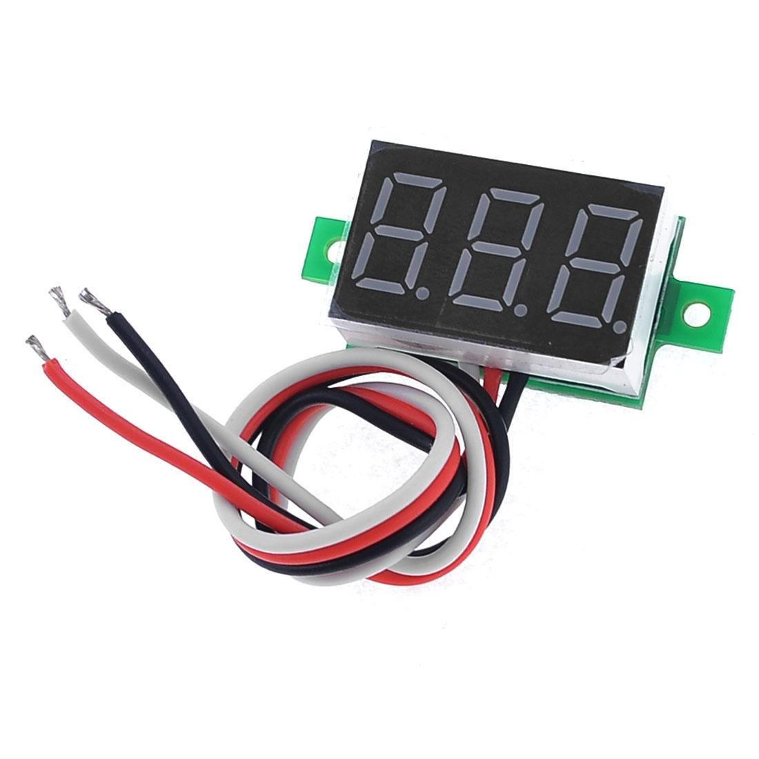 V20D Red LED 3-Digital Direct Current Voltmeter Meter Module DC0-100V