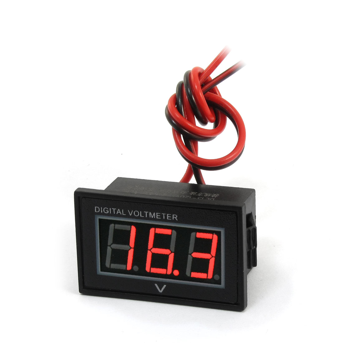 V40D Waterproof Red LED 3 Digital Direct-Current Voltmeter DC 15-120V