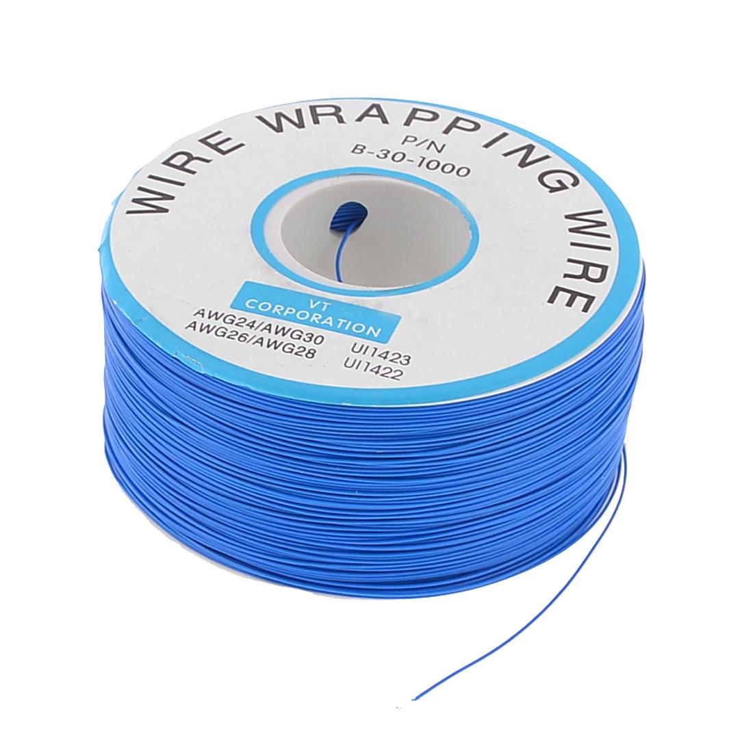PCB Copper Core Jumper Cable Wire Single Conductor Coil 820.2 Ft Blue