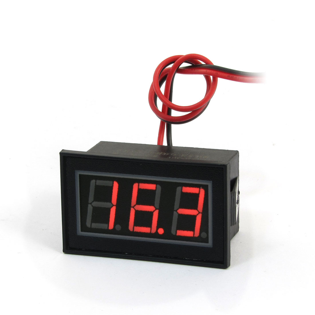 3-Digit Red LED Light Potting Waterproof Digital Voltmeter DC 2.5-30V