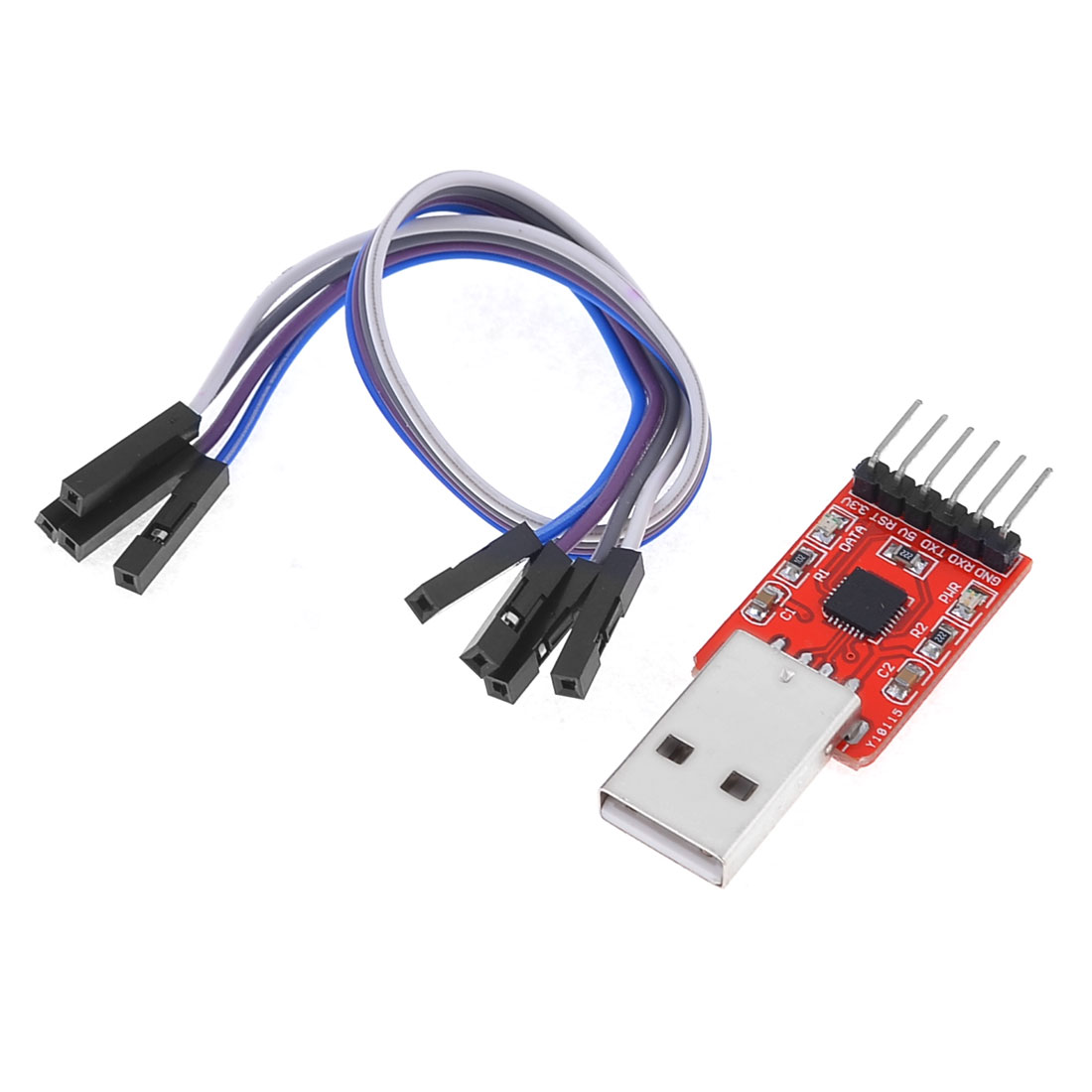 6Pins 3-3.6V CP2102 STC Download USB to TTL Module w 21.5cm Cables