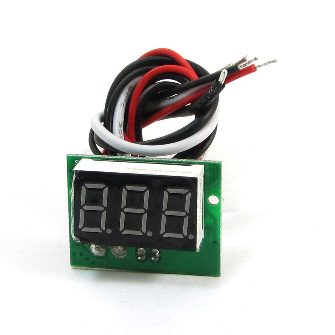 C20D Red LED Light 3-Digital Ammeter Module DC 0-5A Green