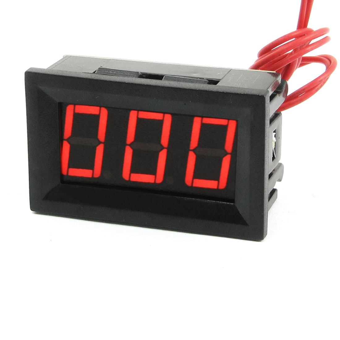 V27A LED 2Line 3-Digital Alternating Current Voltmeter Black AC60-500V