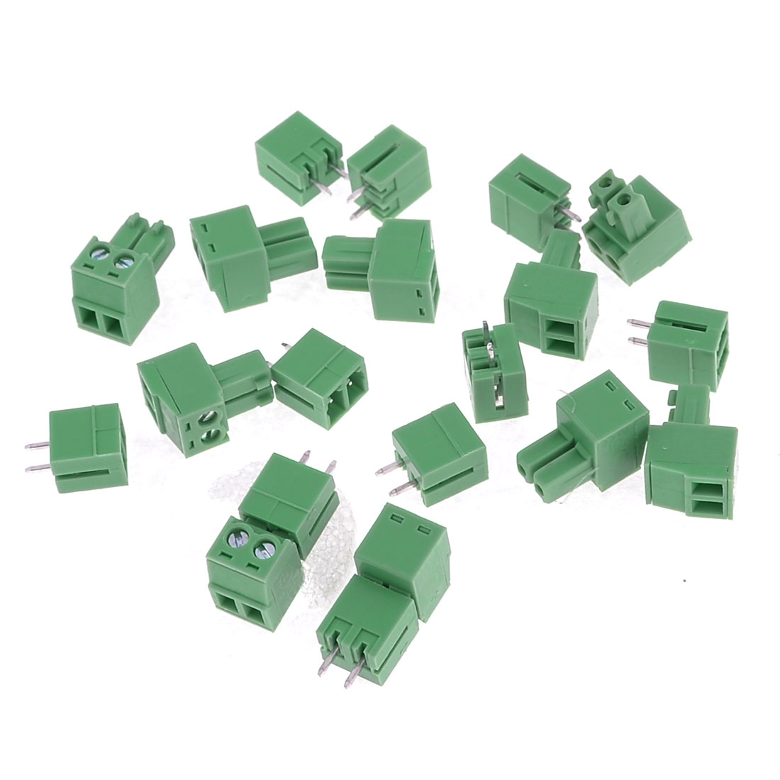 10 Pcs KF2EDG-3.81-2T 300VAC 8A Block Terminal Connectors Green