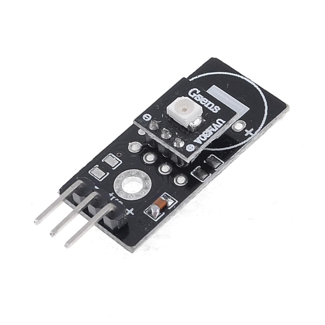 DC3-5V 200nm-370nm Response Wavelength UV Sensor Module Black UVM-30A