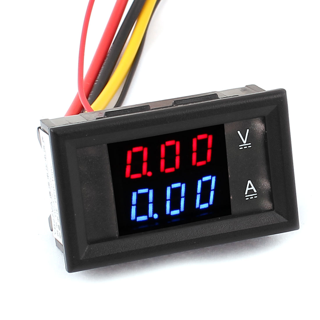 LED Red Blue Dual Display Digital Current Voltage Meter DC3.5-30V 10A