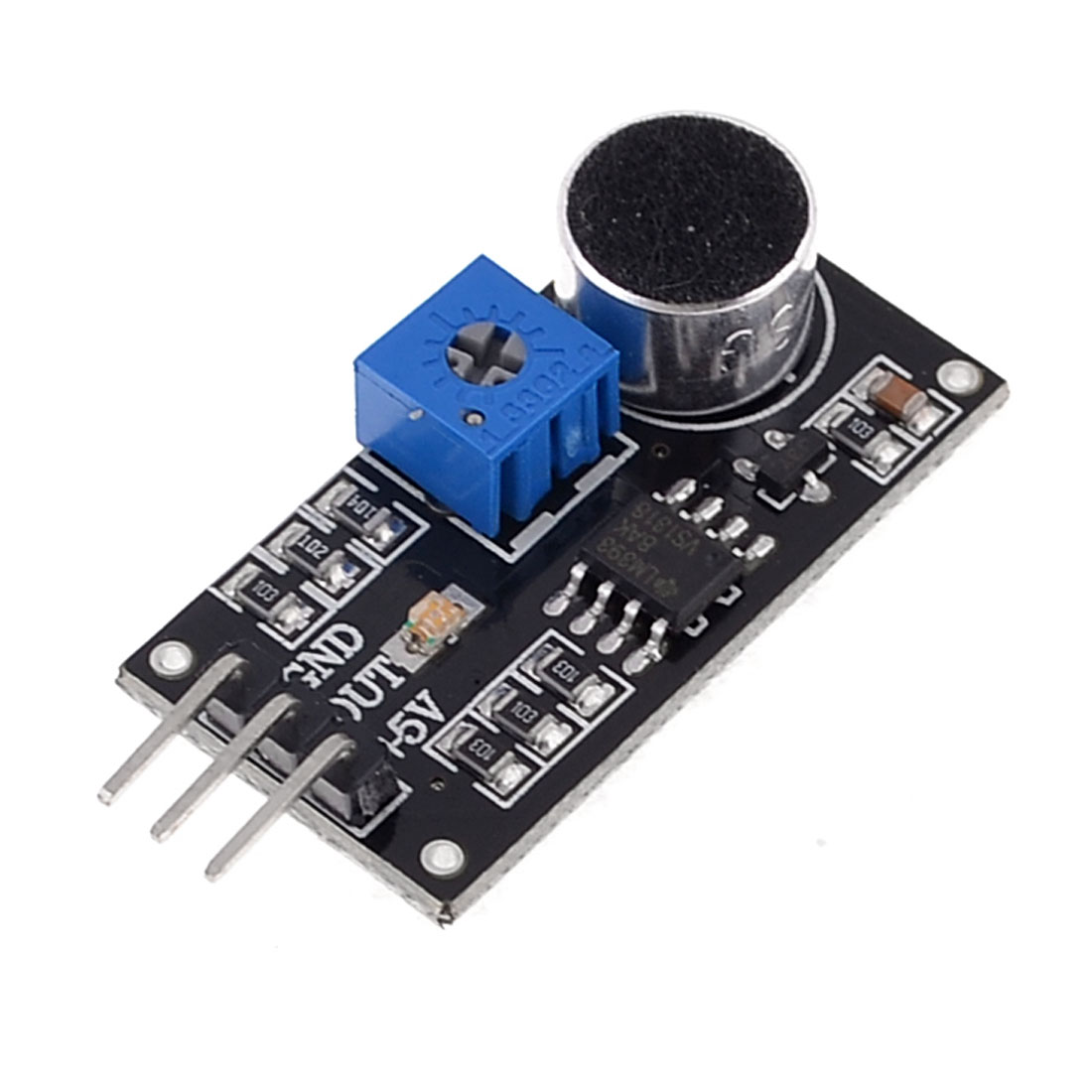 LM393 Sound Detection Sensor Module DC4-6V Black