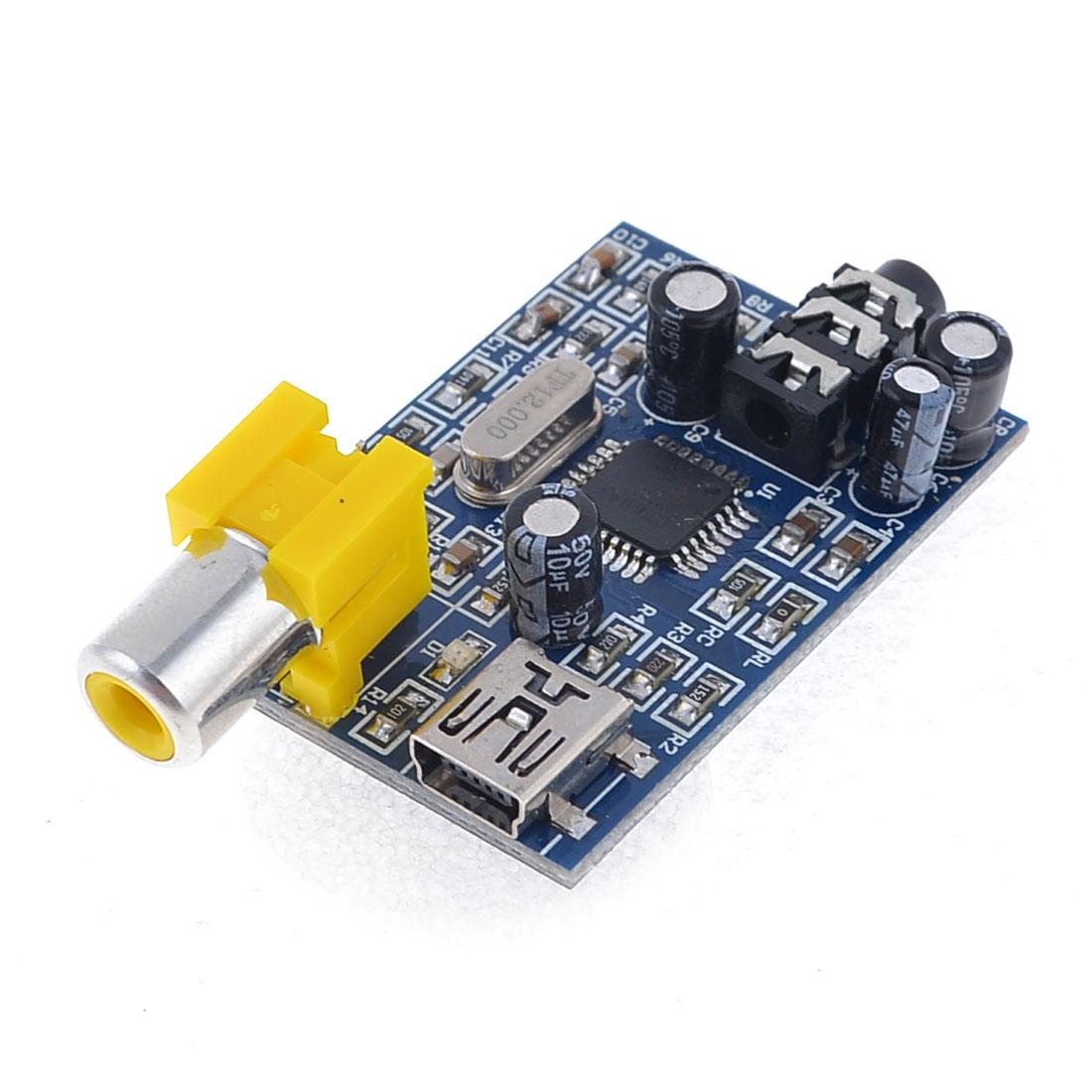 PCM2707 USB DAC Sound Module Blue for Headphones