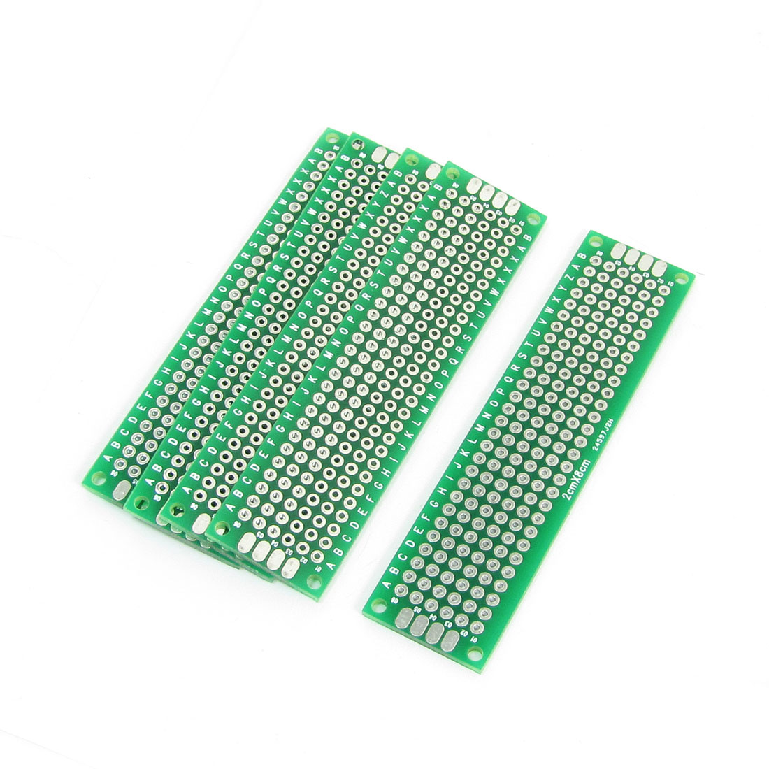 2cmx8cm Green Double-sided Hot Air Solder Leveling Boards 5Pcs