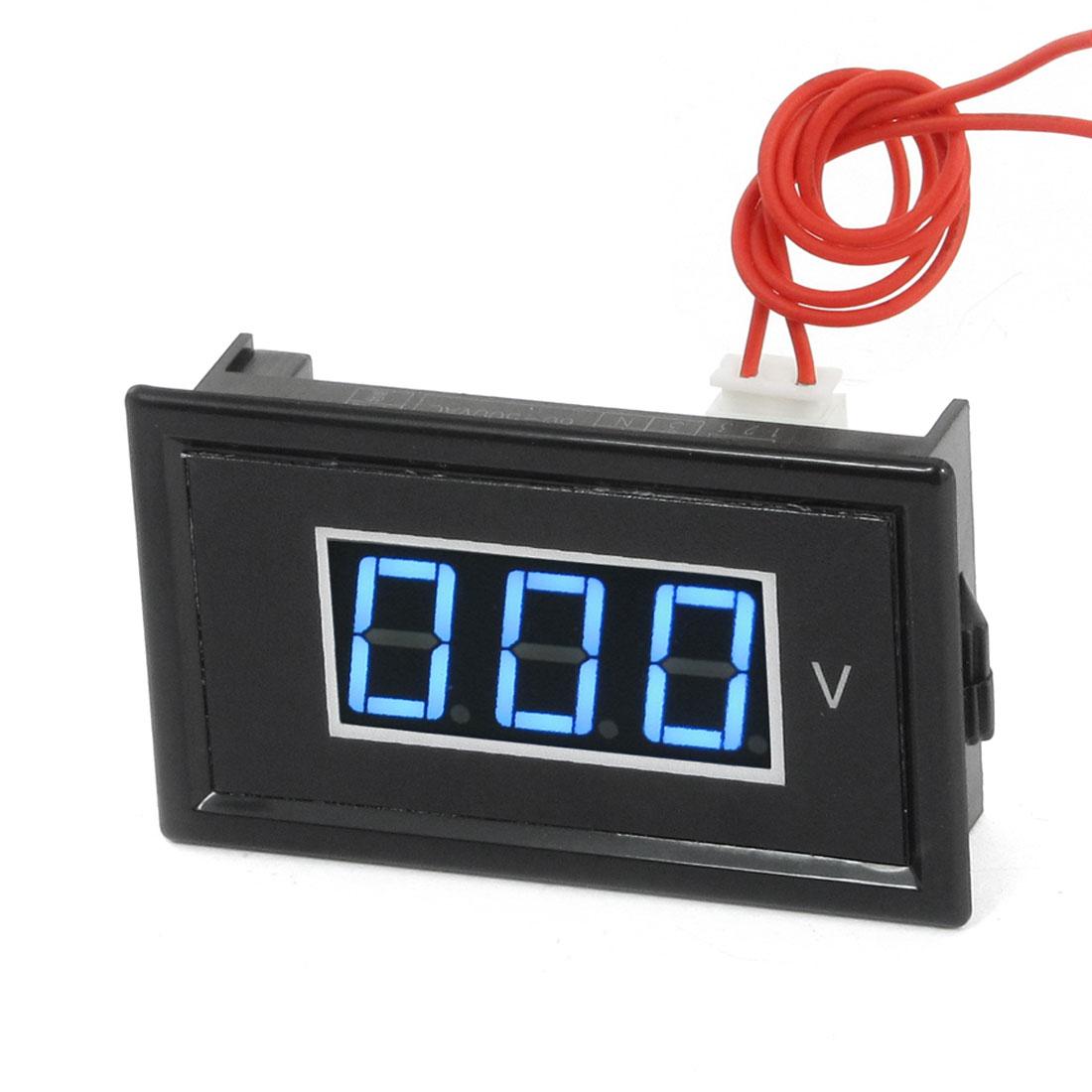 V85A Blue LED 3 Digital AC Voltmeter 75-300V w Fine Adjustable Black