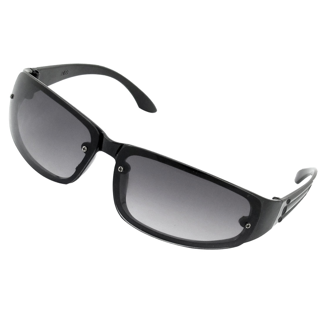 Adult Black Full Frame Rectangle Lens Sun Glasses Sunglasses