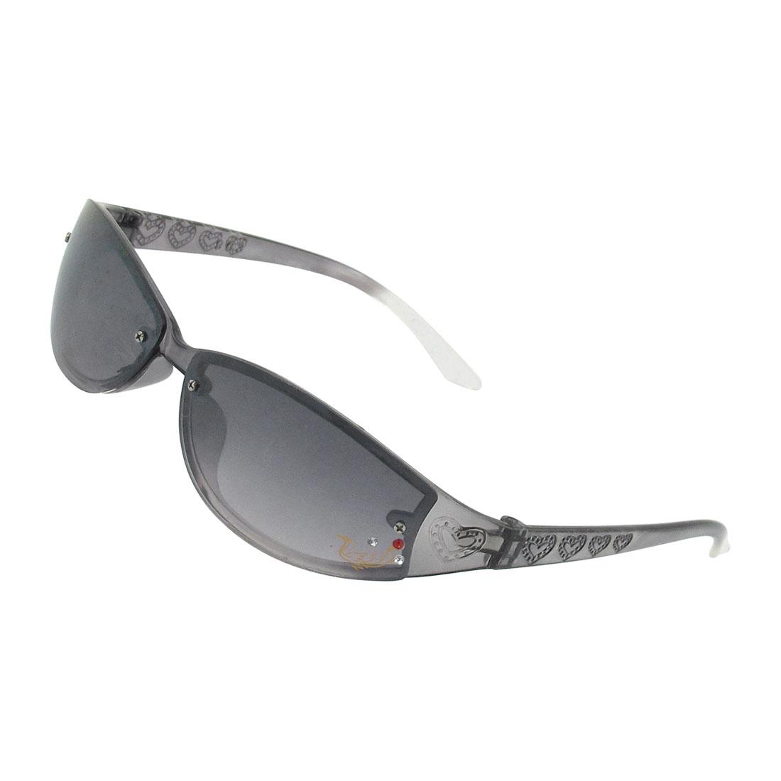 Ladies Man Dark Gray Full Frame Rectangle Lens Sunglasses Sun Glasses