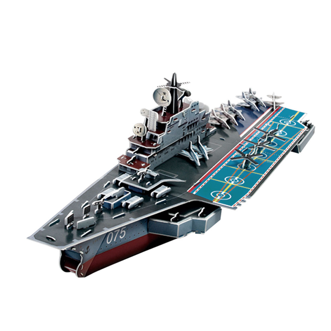 3D Foam Kiev Aircraft Carrier Model Assembling Puzzle Toy