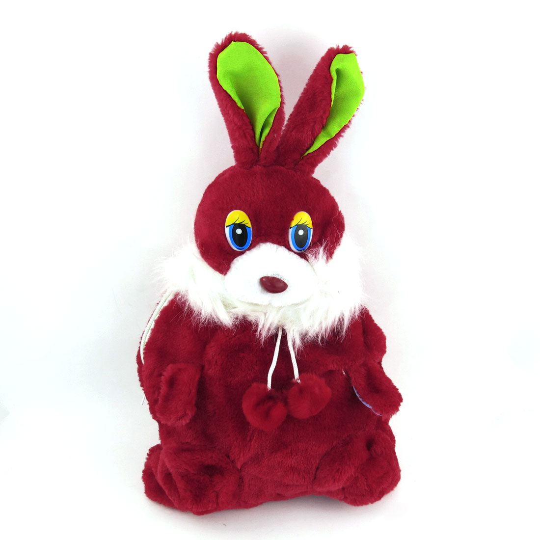 Red Zipper Closure Cartoon Rabbit Design Adjustable Backpack for Kids