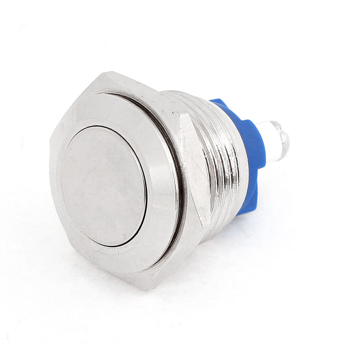 AC 250V 3A Flat Head SPST Momentary Type Push Button Switch