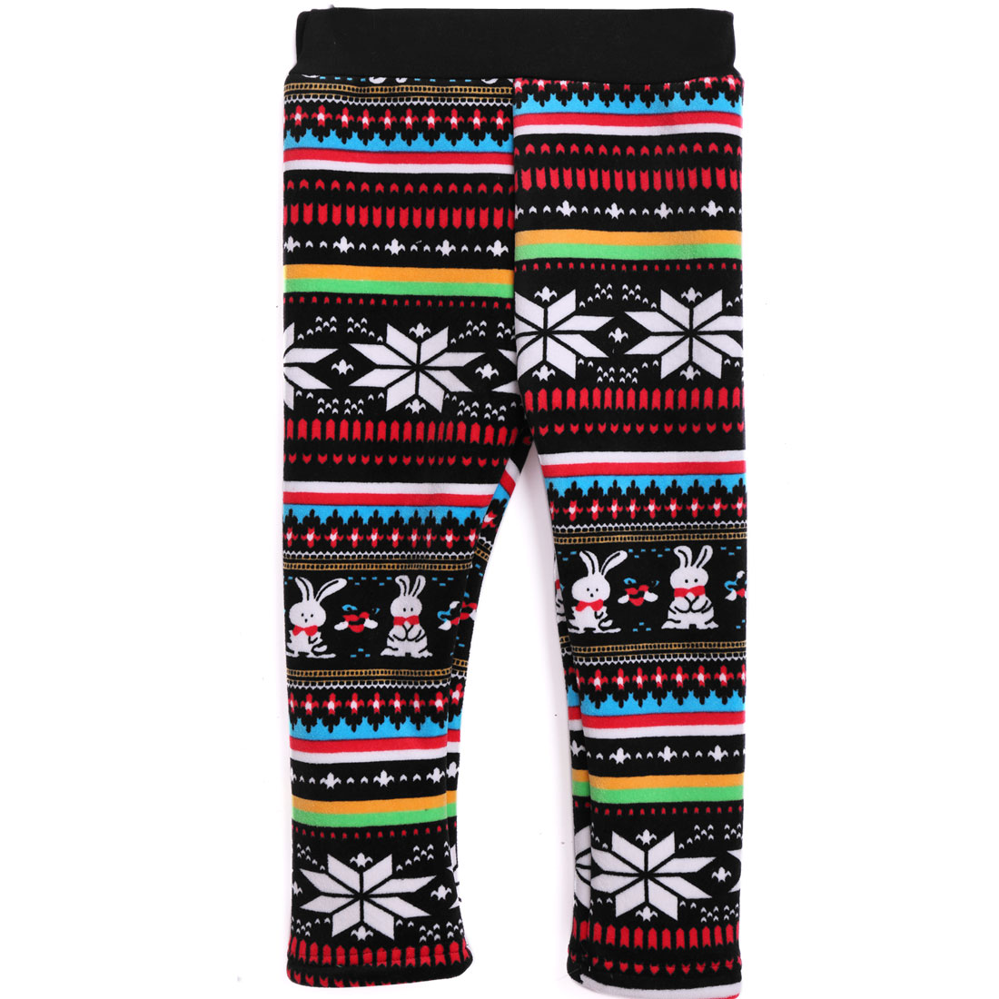 Stretchy Waist Mid Rise Sweet Leggings for Girls Multicolor 8