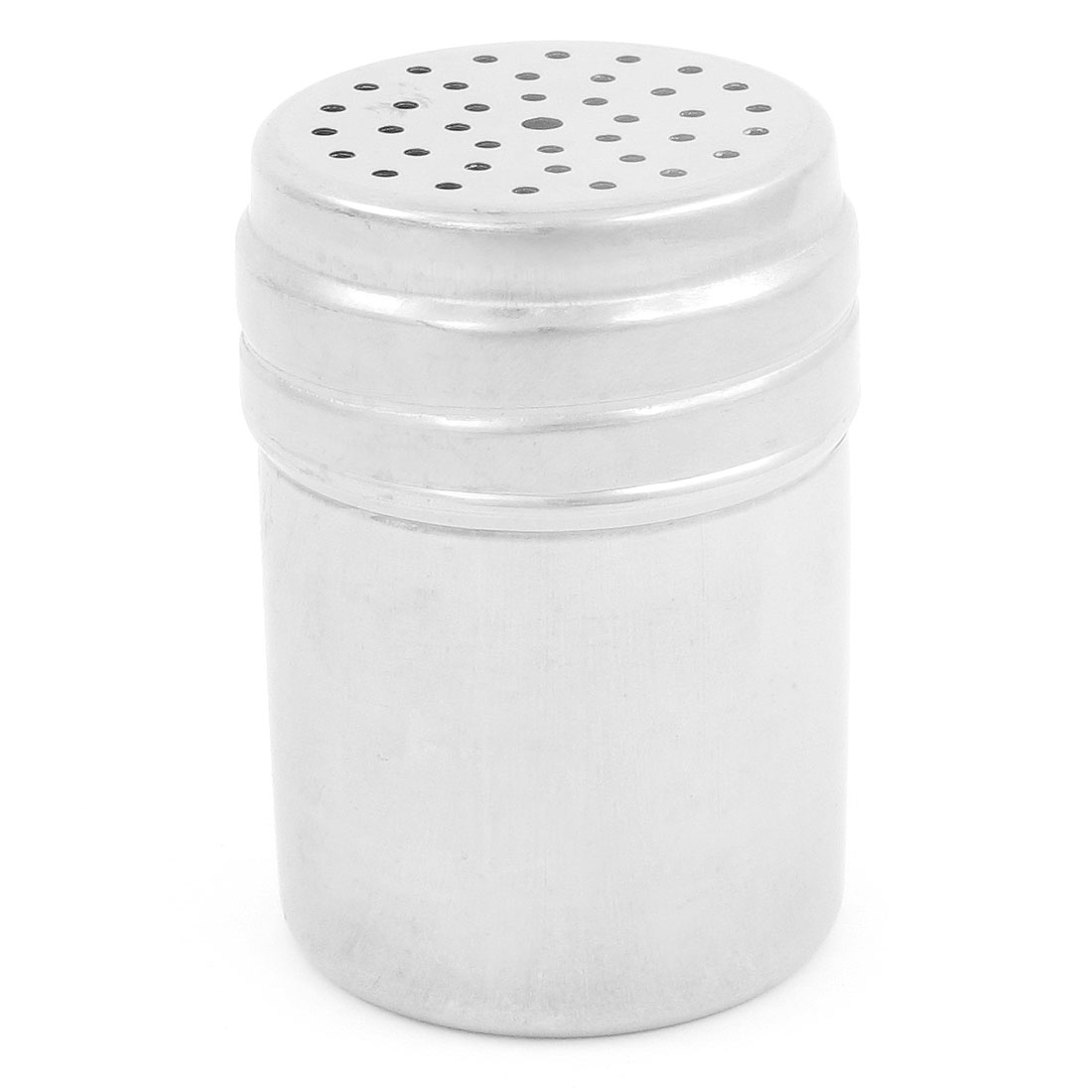 Silver Tone Metallic Hollow Out Pepper Shaker Salt Storage Bottle