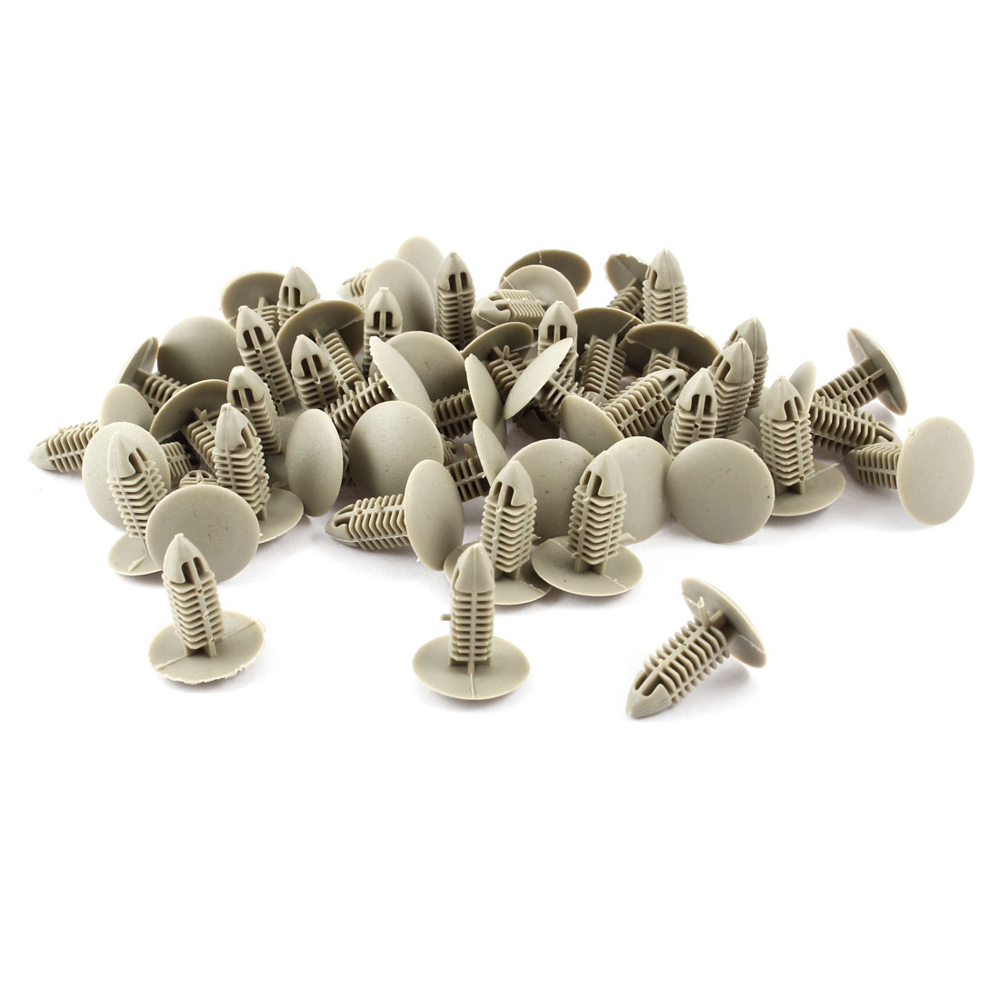 Auto Car Door Fender 7mm Hole Plastic Rivets Fastener Light Gray 50 Pcs