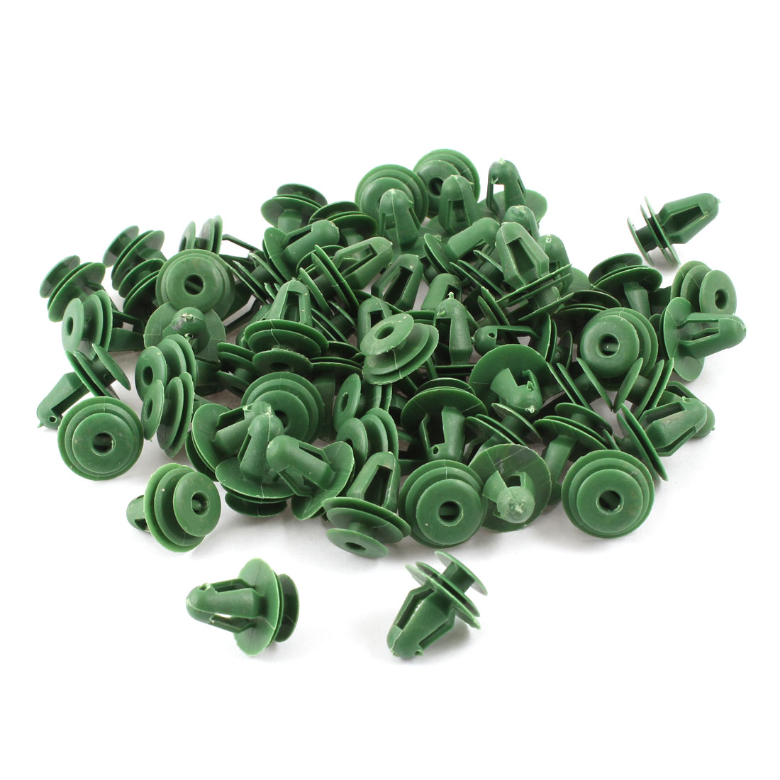 102 Pcs Green Plastic Rivets Retainer Clip 18x15x10mm for Car Bumper Fender