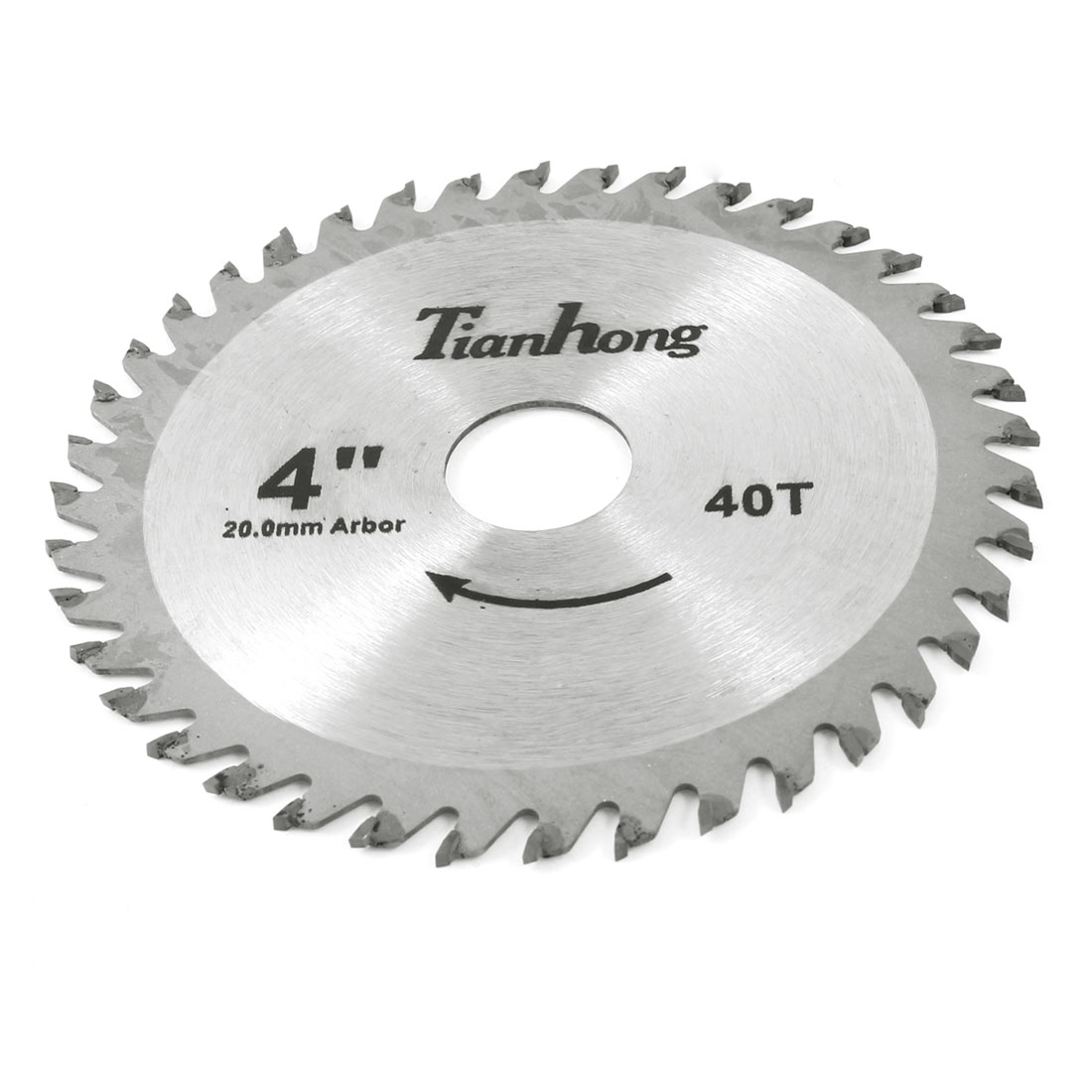 Silver Tone Steel 40 Teeth 105mm Cutting Dia Saw Blade for Carpentry