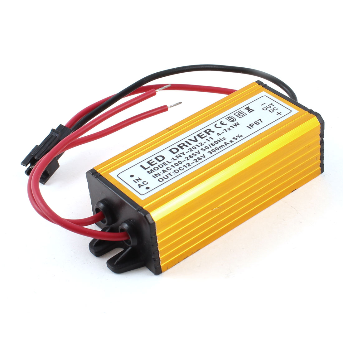 AC 100-265V DC 12-26V Power Supply Driver Adapter for (4-7)x 1W LED Illuminated