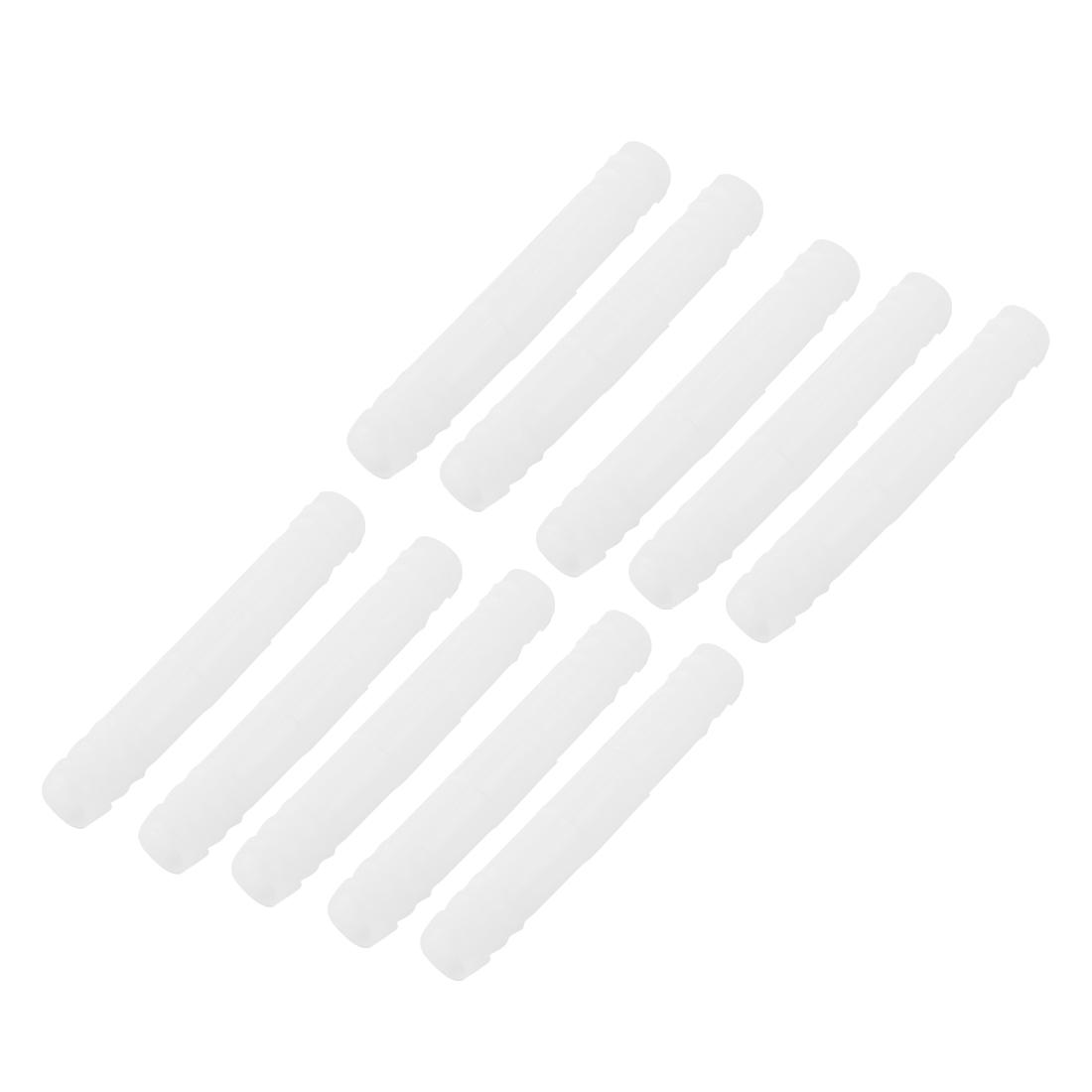 Aquarium Tank Plastic Hose Barb Straight Connector 9mm Dia Air Line Tubing 10 Pcs