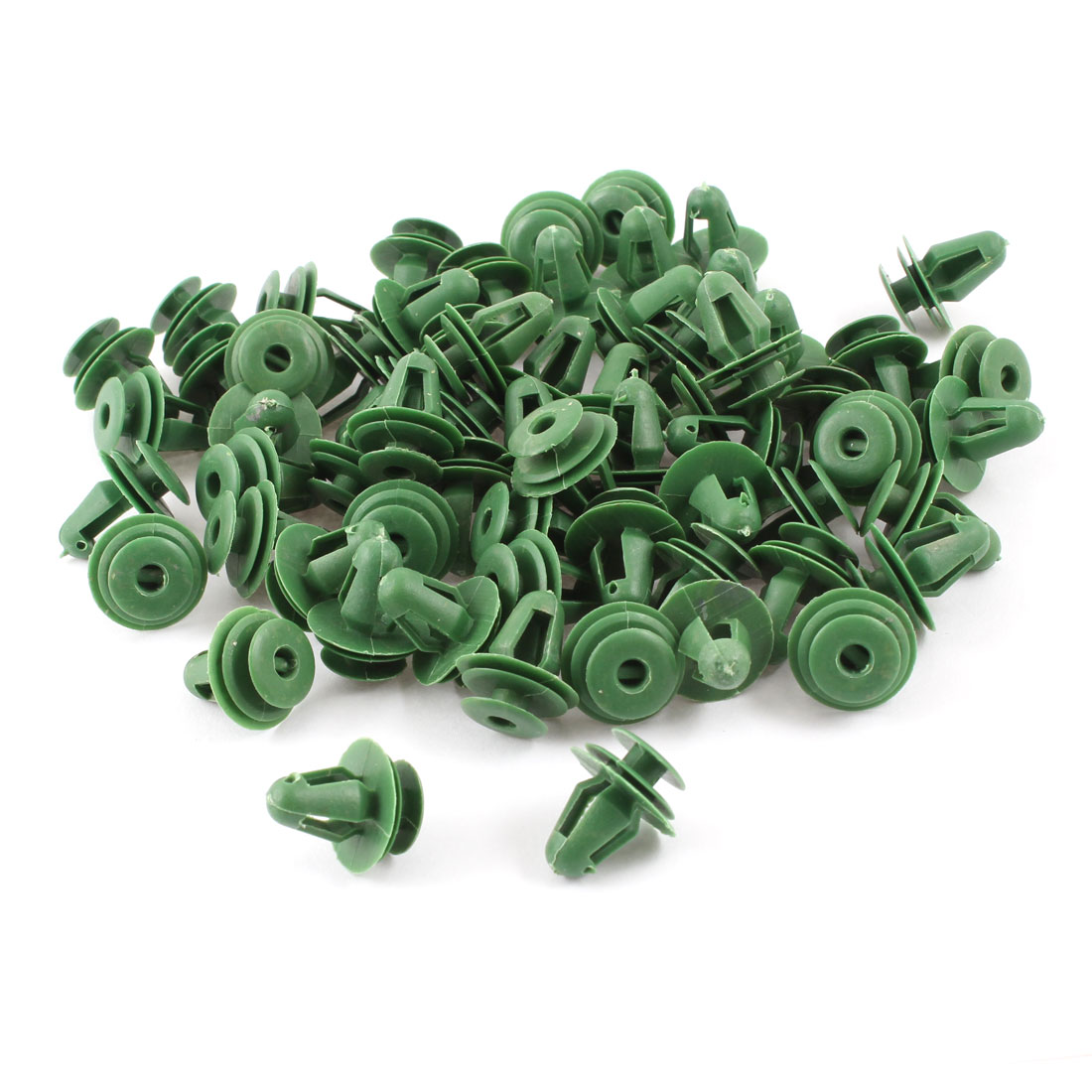 100 Pcs Green Plastic Rivets Retainer Clip 18x14x10mm for Car Bumper Fender