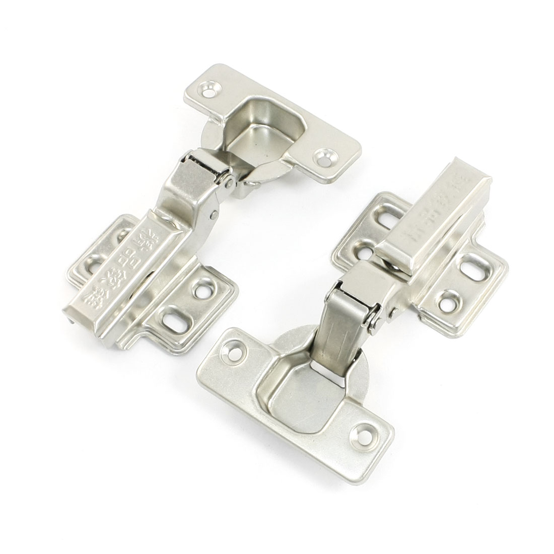 2pcs Metal 90 Degree Open Insert Style Concealed Kitchen Cabinet Door Hinge 4.1""