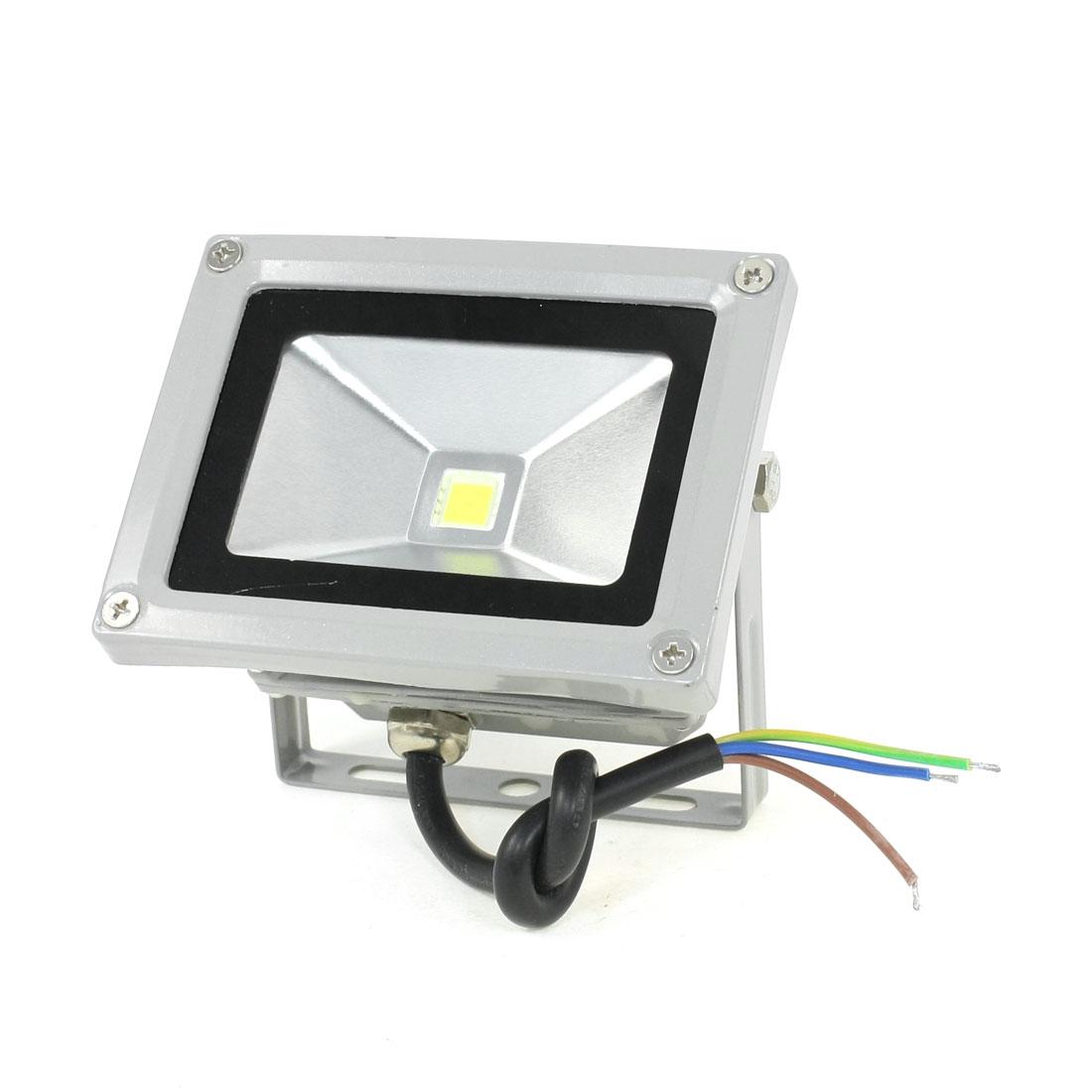 Garden Water Resistant 10W White LED Flood Light Floodlight AC 85-275V
