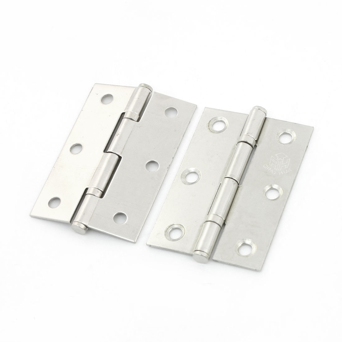 2pcs Hardware Silver Tone Butt Hinge 62mm for Home Cabinet Drawer Cupboard