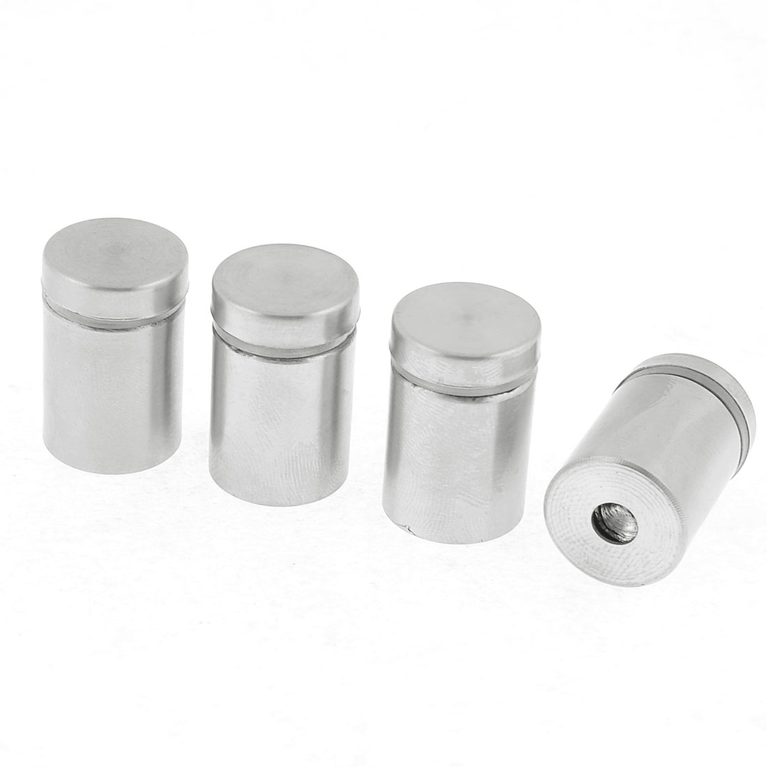 4 Pce Silver Tone Stainless Steel Mirror Nail Glass Standoff Screw Pin