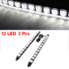 2 Pcs White 12 LED Adhesive Daytime Running Front Fog DRL Driving Light Set