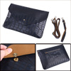 Men Adjustable Single Strap Envelope Shape Briefcase Navy Blue